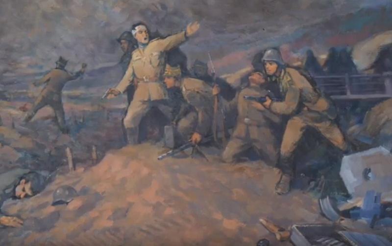 """Exponatul lunii SEPTEMBRIE la Complexul Muzeal Arad este: """"SCENĂ DE LUPTĂ LA PĂULIȘ 1944"""" (AUTOR: FRANCISC BARANYAI)"""