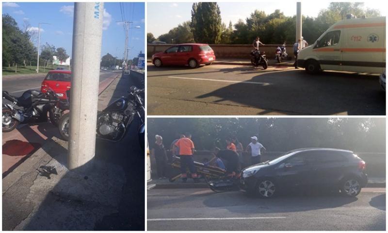 Accident pe strada Eugen Popa, doi motociclişti au ajuns la spital