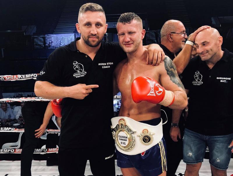 Centrura României în posesia arădeanului Eduard Gafencu - Centura Colosseum Tournament la 81 kg