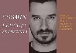 """""""Cosmin Leucuța se prezintă"""", în seria de întâlniri autor-public din proiectul """"Biblioteca de literatură arădeană de azi"""""""