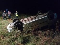Autoturism răsturnat vineri seara între Ineu și Seleuș. Printre victime se află și 2 copii