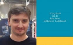 """""""Andrei Mocuța se prezintă"""" în seria de întâlniri autor-public din proiectul """"Biblioteca de literatură arădeană de azi"""""""