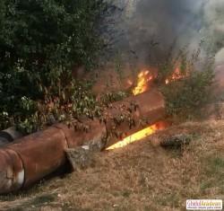 Incendiu la conductele CET din Micălaca zona 300