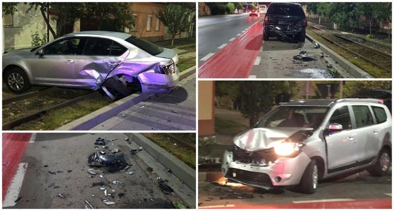 Accident pe Petru Rareş duminică dimineaţa, cinci maşini lovite şi şase victime