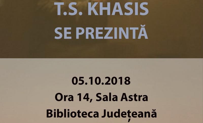 """""""T. S. Khasis se prezintă"""" în seria de întâlniri autor-public din proiectul """"Biblioteca de literatură arădeană de azi"""""""