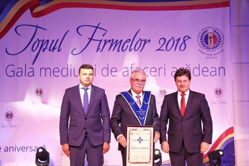 Excelenţa în afaceri premiată la Topul Firmelor de Camera de Comerţ şi Industrie Arad