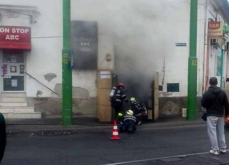 District One din Boul Roșu a luat foc !