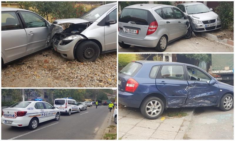 Accident pe Sever Bocu: Rezultatul: trei autoturisme avariate