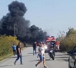 Accident, explozie, răniţi între Curtici şi Sântana