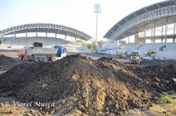 Lucrările la gazonul de pe noua arenă Francisc Neuman sunt în plină desfășurare