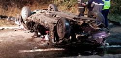 Accident MORTAL pe podul de la Micălaca! 2 MORŢI şi doi răniţi!