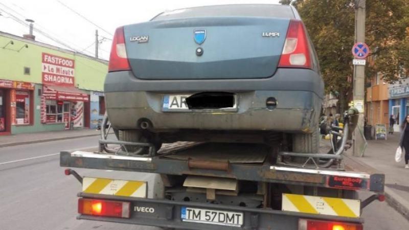 Mașini din Arad, abandonate în Timișoara
