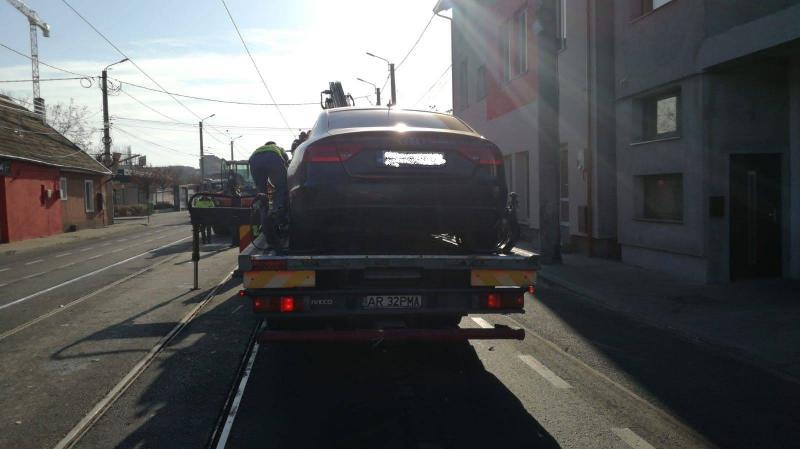 ATENȚIE șoferi! Nu mai parcați pe liniile de tramvai de pe Cocorilor, de sâmbătă 10 noiembrie se reia circulația tramvaielor