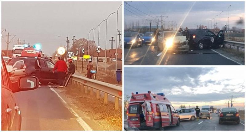 O tamponare între Arad şi Vladimirescu, a blocat un sens de circulaţie pentru mai multe zeci de minute