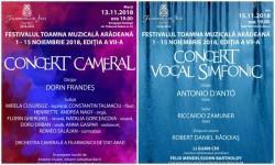 Două concerte de excepție în această săptămână la Filarmonica din Arad
