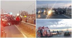 O tamponare între Arad şi Vladimirescu a blocat un sens de circulaţie pentru mai multe zeci de minute