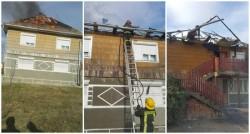 Ghinion pentru o familie din Mândruloc, au rămas fără acoperiş după ce acesta a ars aproape în întregime