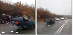 Grav accident rutier pe drumul ce leagă Aradul de Timișoara. O femeie a fost grav rănită