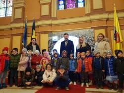 Micuții de la Grădinița Bambi l-au vizitat pe primarul Aradului, Gheorghe Falcă
