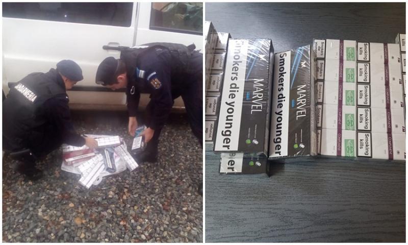 Ţigări de contrabandă confiscate de Jandarmii arădeni
