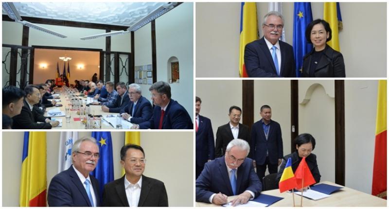 O importantă delegaţie din Fujian în vizită la CCIA Arad