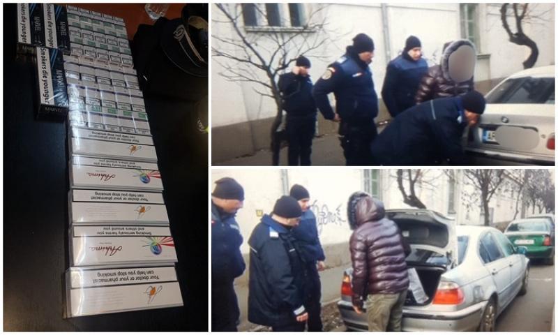 Încă o captură de ţigări de contrabandă în piaţa Mihai Viteazul
