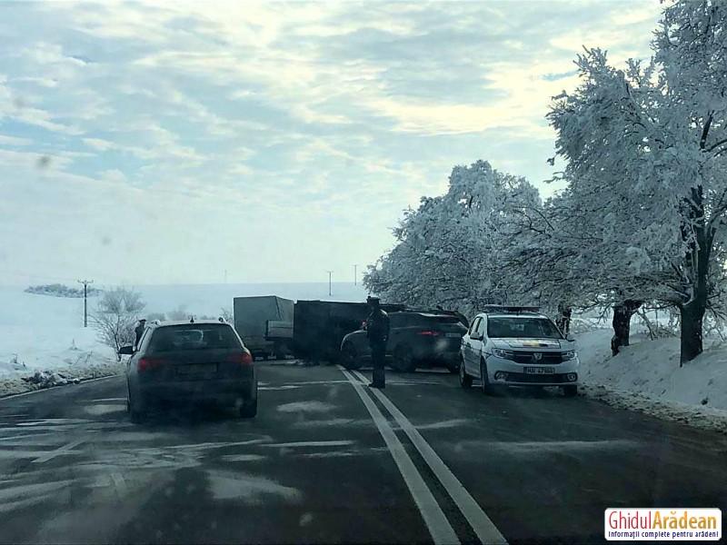 Accident rutier între Arad și Timișoara
