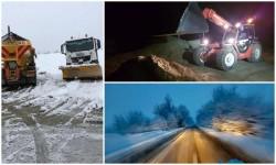Șase echipaje ale Consiliului Judeţean verifică permanent pe traseu situația deszăpezirii
