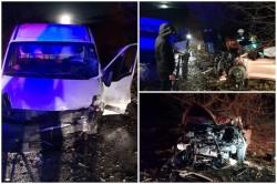 Accident FRONTAL cu victime între Horia şi Şiria!