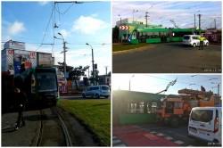 Circulaţia tramvaielor întreruptă în Aradul Nou