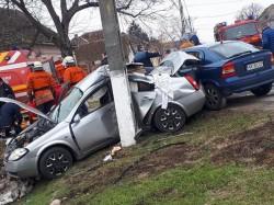 GRAV accident rutier la Sântana. O persoană a fost găsită inconștientă