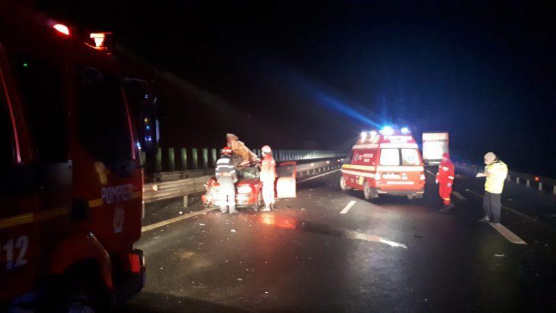 TRAGEDIE pe A1 în apropiere de Sebeș. Două persoane și-au pierdut viața