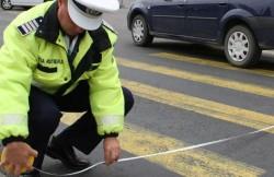 Prins de polițiștii arădeni, după ce a provocat un accident și a părăsit locul faptei