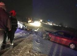 Circulație blocată pe drumul ce leagă Aradul de Timișoara, în urma a două accidente rutiere