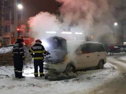 Pompierii arădeni ne AVERTIZEAZĂ. O altă mașină a luat foc