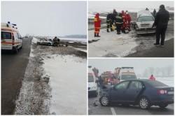 Accident mortal pe DN 79 la intersecția drumului Curtici cu Sântana