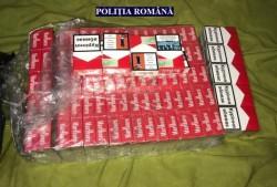 Peste 117.000 țigări de contrabandă găsite de polițiști în urma a două percheziții domiciliare