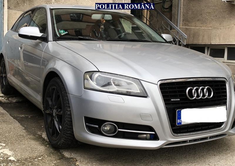 Un Audi căutat de polițiștii italieni, găsit în Arad
