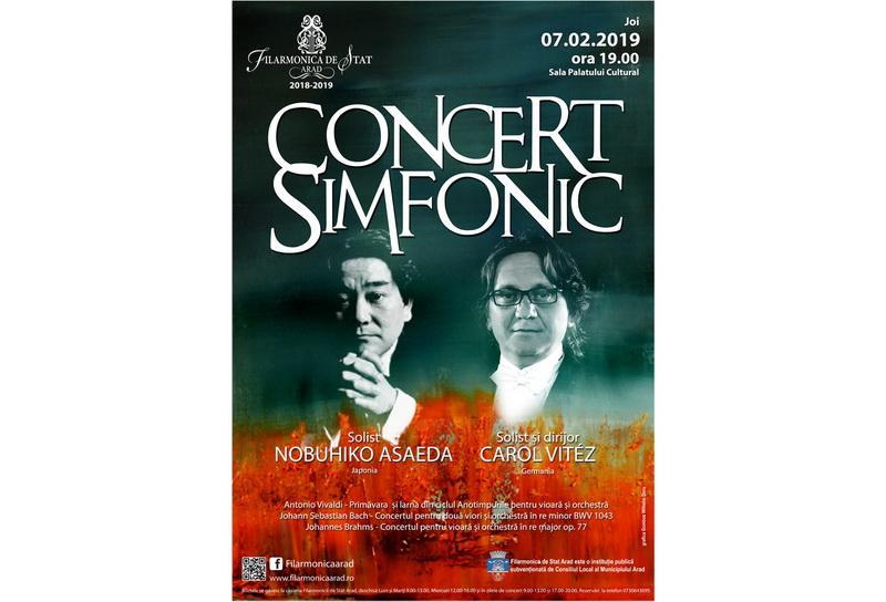 Invitații de joi ai orchestrei simfonice din Arad sunt:  Carol Vitéz şi Hobuhiko Asaeda
