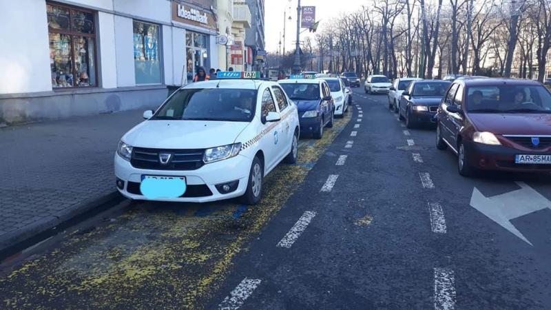 Miting de protest al taximentriștilor la Arad