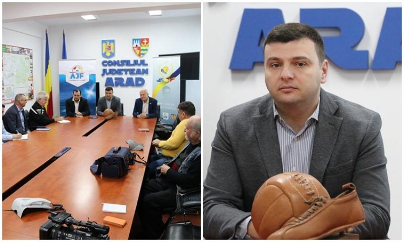 """Sergiu Bîlcea: """"Fotbalul face parte din identitatea Aradului"""""""