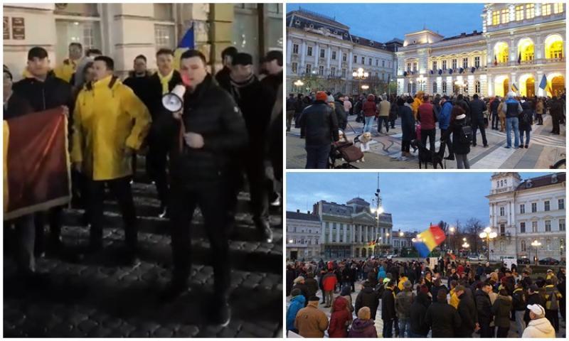 Proteste şi la Arad împotriva modificării legilor justiţiei prin ordonanţă de urgenţă!