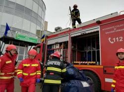 Plan ROȘU de Intervenție în curtea Spitalului Județean Arad, Secția de Pneumologie -EXERCIȚIU ISU Arad