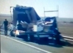 ACCIDENT rutier pe Autostrada Arad-Timișoara