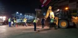 Au început lucrările de reabilitare a sensului giratoriu de la Galleria Mall