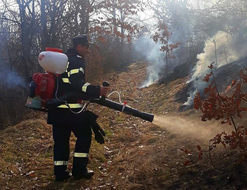 Mai bine de 4 ha de vegetație uscată au ars la Chișindia