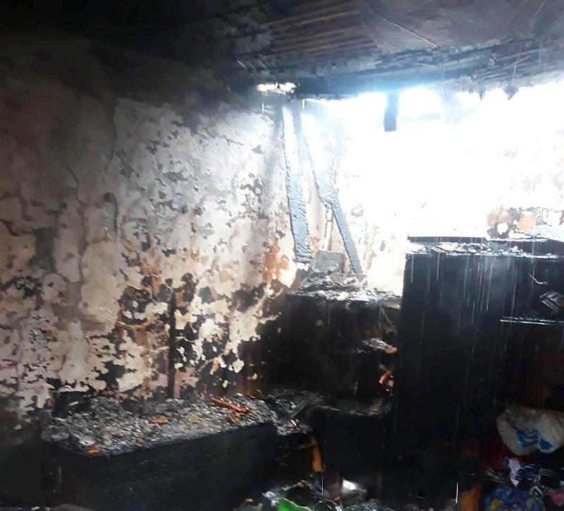Incendiu izbucnit în urma unui scurtcircuit la un canton CFR din Arad