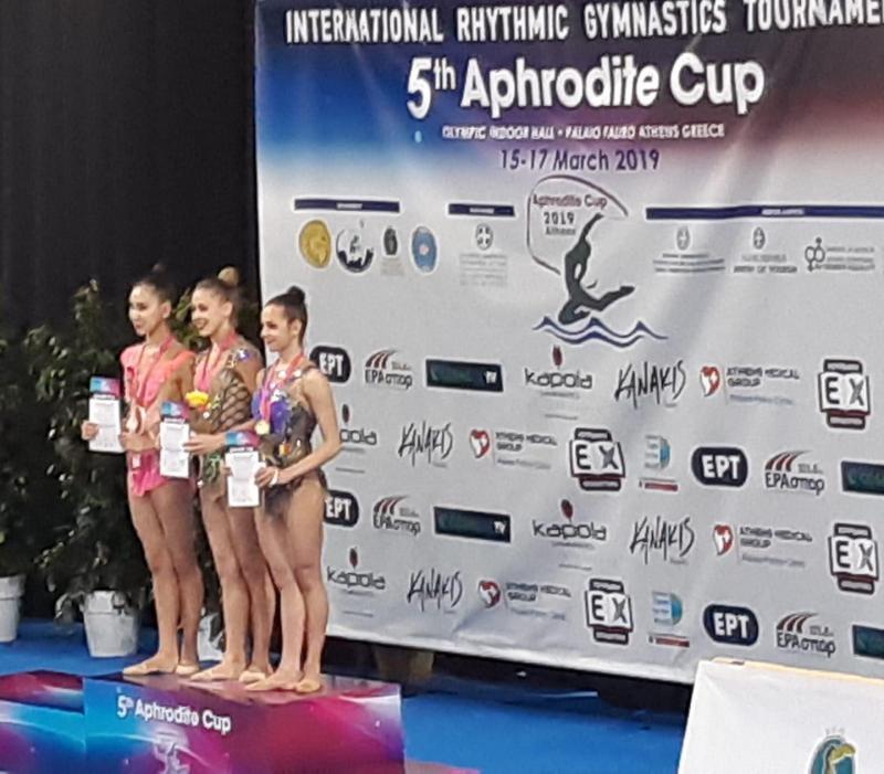 Gimnasta arădeancă Sonia Ichim pe podium la Aphrodite CUP din Grecia