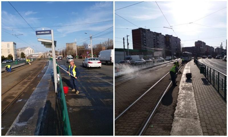 """""""Curăţenie de primăvară"""" în staţiile de tramvai"""