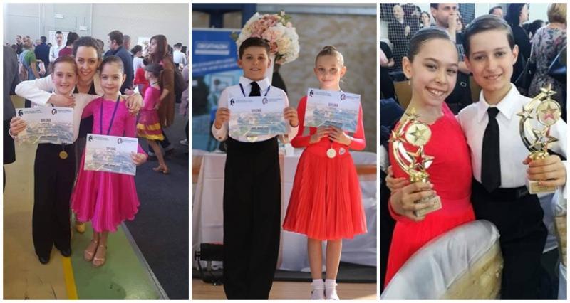Sportivii școlii de dans Royal Steps Arad se întorc încarcati de medalii de la Cupa Oradea